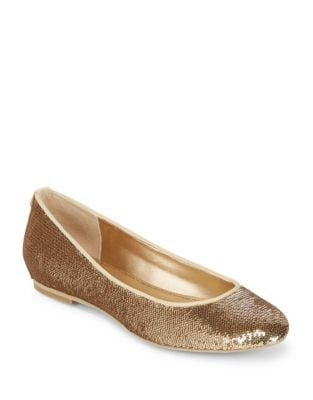 Sequined Ballet Flats by Belle Badgley Mischka