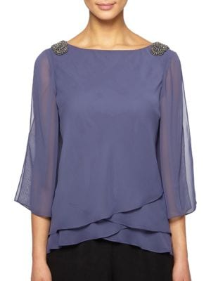 Tier Heather Blouse by Alex Evenings
