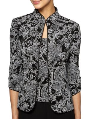 Printed Jacket and Camisole Set by Alex Evenings