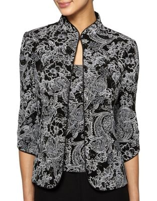 Two-Piece Floral Print Camisole and Jacket by Alex Evenings