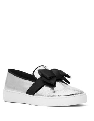 Val Metallic Leather Skate Sneakers by Michael Kors Collection