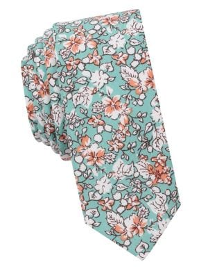 Oneill Floral Cotton Tie by Penguin