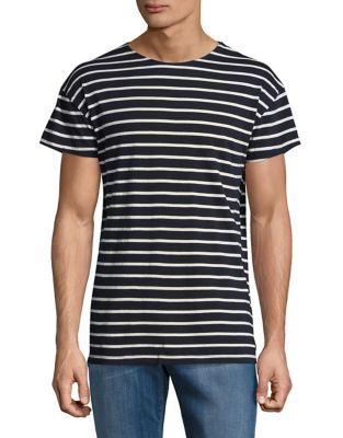 Striped Cotton Tee by Michael Kors