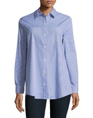 Collared Cotton-Blend Shirt by Lord & Taylor