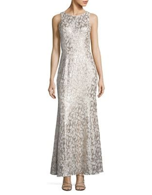 Sequined Lace Gown by Belle Badgley Mischka