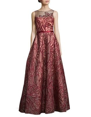 Embroidered Floor-Length Dress by Basix