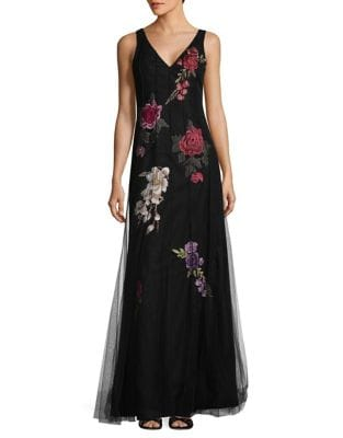 Floral Embroidered Dress by Basix