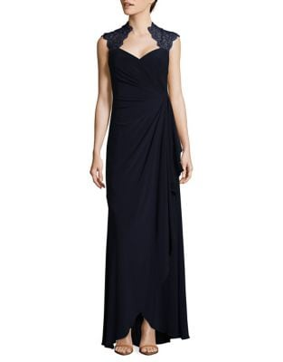 Cap Sleeve A-Line Gown by Xscape
