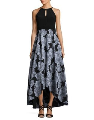 Hi-Lo Keyhole Gown by Xscape