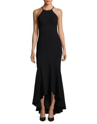 Hi-Lo Halterneck Gown by Xscape