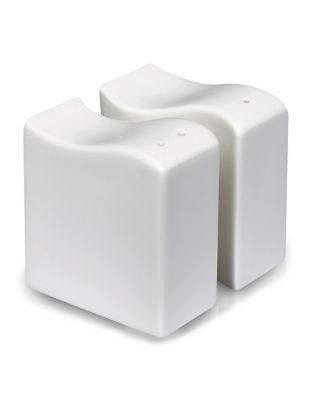 Wave Two-Piece Porcelain Salt & Pepper Shaker Set 500087171936