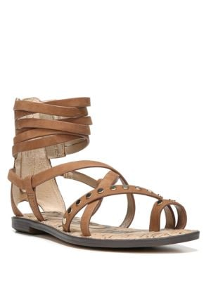 Buy Gabe Leather Gladiator Sandals by Sam Edelman online