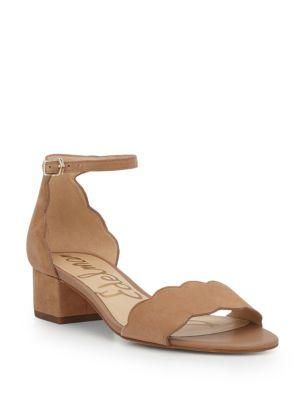 Inara Scallop Block Heel Sandals by Sam Edelman
