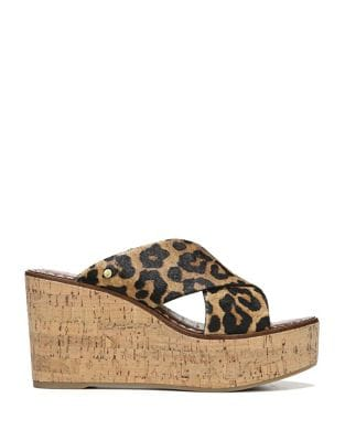 Darlene Calf Hair Platform Wedges by Sam Edelman