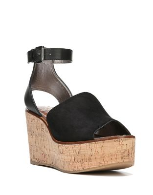 Ankle-Strap Suede Wedges by Sam Edelman