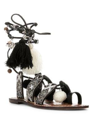 Gem Leather Sandals by Sam Edelman