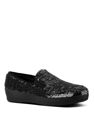 Superskate Embellished Suede Loafers by FitFlop