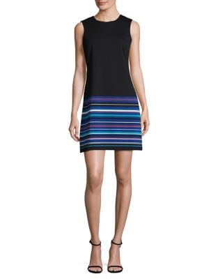 Striped Sheath Dress by Calvin Klein