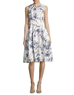 Floral Fit & Flare Dress by Eliza J