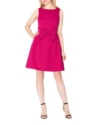 Bow Waist Fit-and-Flare Dress by Tahari Arthur S. Levine