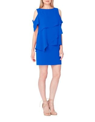 Boat Neck Jewel Style Sleeveless Shift Dress by Tahari Arthur S. Levine