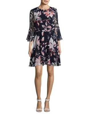 Floral Bell Poppy Dress by Vince Camuto