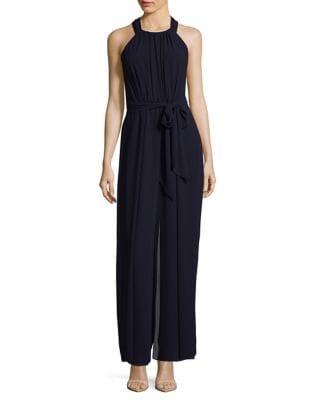 Belted Crepe Jumpsuit by Vince Camuto