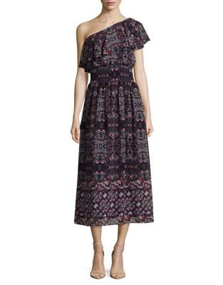 Photo of One-Shoulder Peasant Maxi Dress by Vince Camuto - shop Vince Camuto dresses sales
