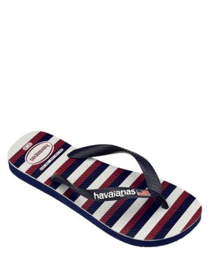 USA Striped Flip Flops by Havaianas