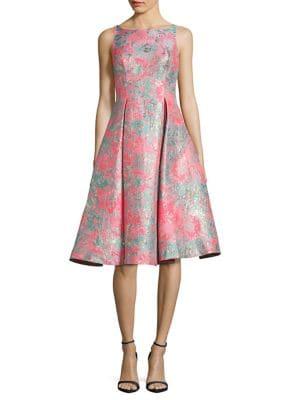 Jacquard Midi Dress by Adrianna Papell