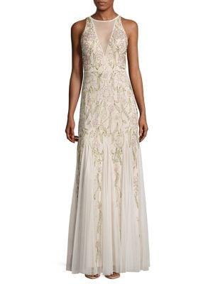 Halter Bead Gown by Adrianna Papell