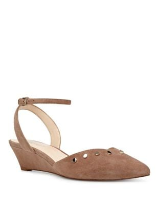Ereena Ankle Strap Suede Pumps by Nine West