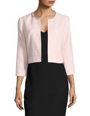 Tweed Beaded Jacket by Karl Lagerfeld Paris