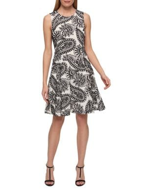 Paisley Print Fit and Flare Dress by Tommy Hilfiger
