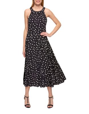 Halter Neck Dotted Dress by Tommy Hilfiger