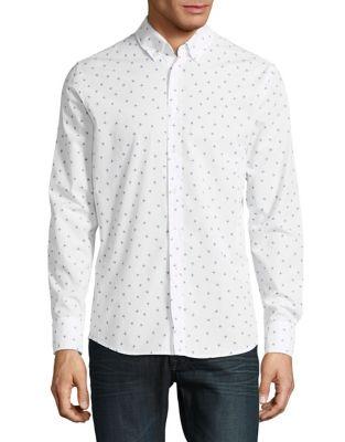 Slim Fit Patterned Sportshirt by HUGO BOSS