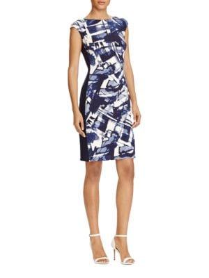 Cap Sleeve Jersey Sheath Dress by Lauren Ralph Lauren