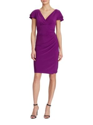 Ruffled Brisa Sheath Dress by Lauren Ralph Lauren