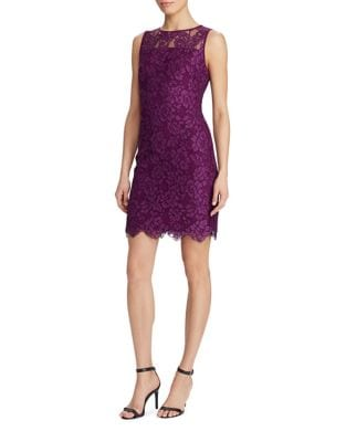Photo of Scalloped Lace Sheath Dress by Lauren Ralph Lauren - shop Lauren Ralph Lauren dresses sales