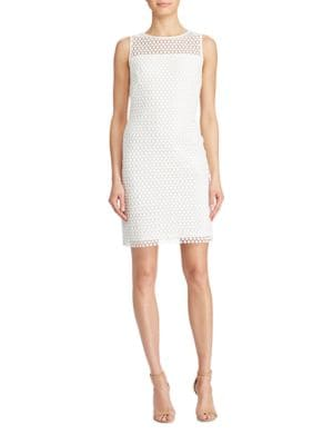 Geometric Patterned Lace Dress by Lauren Ralph Lauren