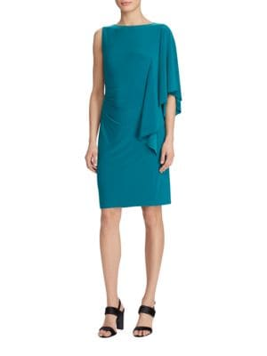 Photo of One-Shoulder Sheath Dress by Lauren Ralph Lauren - shop Lauren Ralph Lauren dresses sales