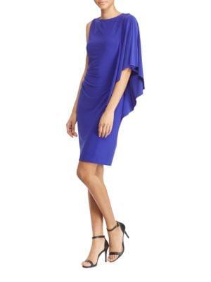Flutter-Sleeve Jersey Sheath Dress by Lauren Ralph Lauren