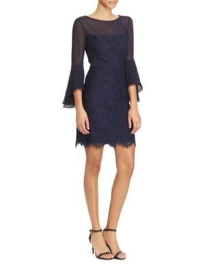 Lace Bell-Sleeve Dress by Lauren Ralph Lauren