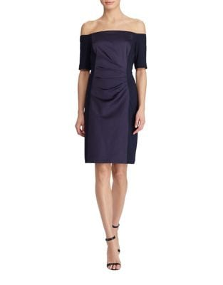Photo of Satin Sheath Dress by Lauren Ralph Lauren - shop Lauren Ralph Lauren dresses sales