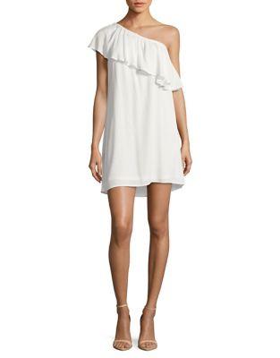 Ruffled One-Shoulder Dress by Wayf