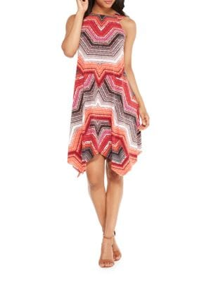 Printed Knee-Length Dress by Maggy London