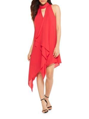 Asymmetrical Mockneck Dress by Maggy London
