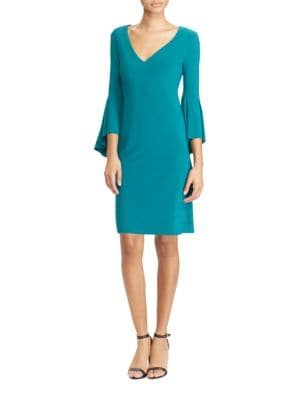 Flounce-Sleeve Jersey Dress by Lauren Ralph Lauren