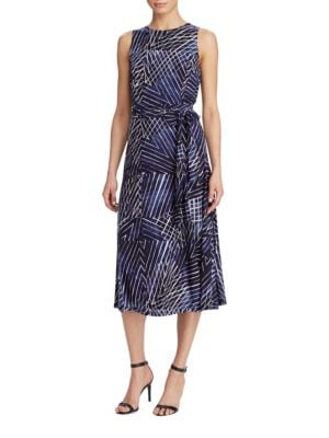 Printed Jersey Fit-and-Flare Dress by Lauren Ralph Lauren