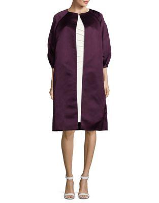 Double Faced Silk Coat by BARBARA TFANK INC.
